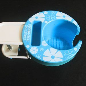 Creative Memories Cup Caddy Blue White Flowers